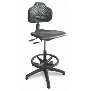 Delovni stol ŽARE PU z obročem