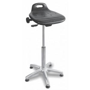 Delovni stol TINE PU ALU nastavljiv sedež