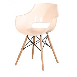 Jedilniški stol fotelj ADELA lesene noge