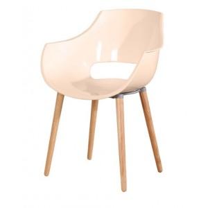 Jedilniški stol fotelj ADELA ekskluziv lesene noge
