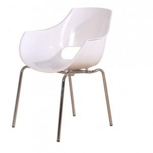 Jedilniški stol fotelj ADELA kovinske noge