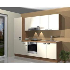 Poceni kuhinja MIMA 260 cm - samo leseni del