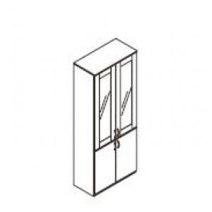 Omara vitrina z alu okvirjem 80 x 40 x 200