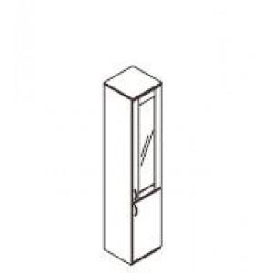 Omara vitrina z alu okvirjem polovična 40 x 40 x 200