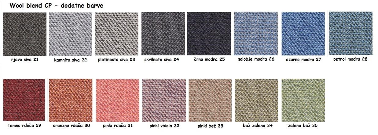 Mešanica volne CP - dodatne barve