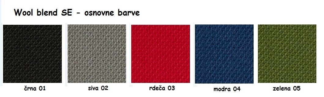 Mešanica volne SE - osnovne barve