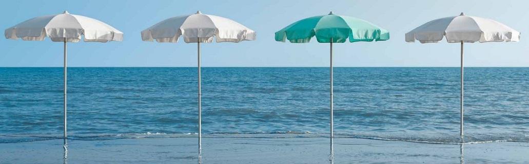 Mali senčniki za bazene in plaže